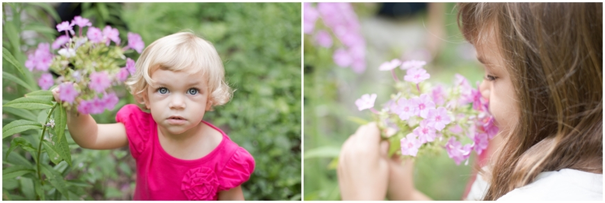 photo of girls with flowers in Northern Virginia