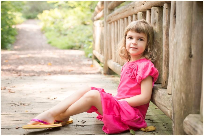 photo of girl on bridge in Northern Virginia
