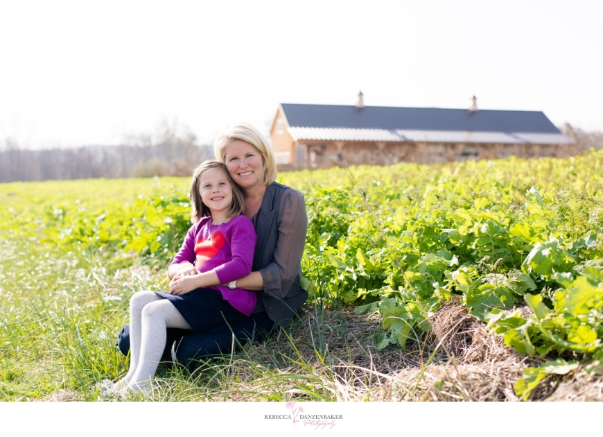 photo of Mother and Daughter on a Farm in Northern Virginia