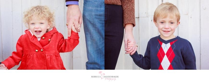 children holding parents' hands in Northern Virginia