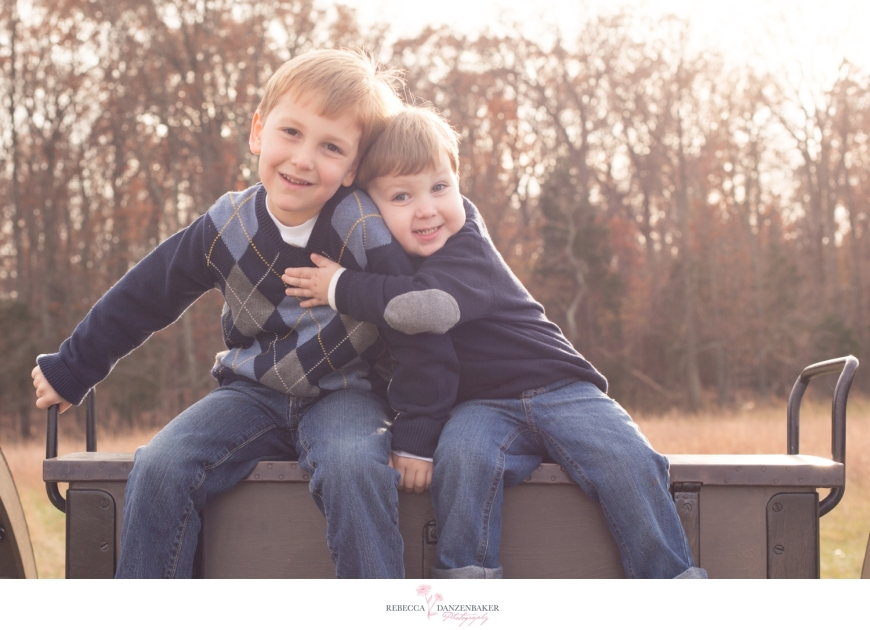 Photo of brothers hugging in northern virginia