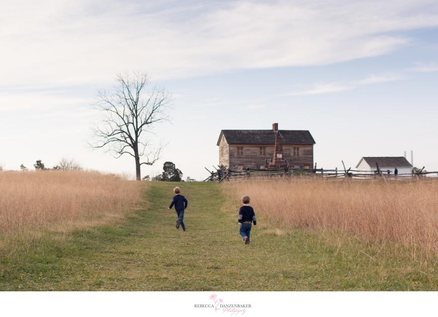 Photo of Boys running in field in Manassas
