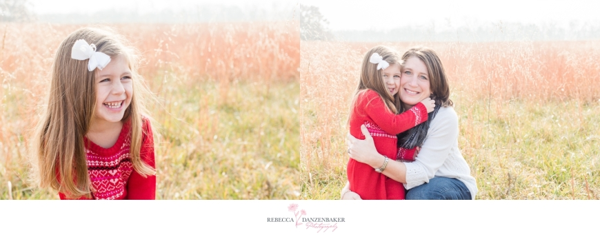 Photo of Mom and Daughter in field in northern Virginia