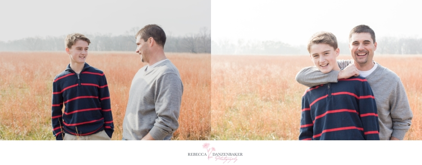 Photo of Father and Son in field in Northern Virginia