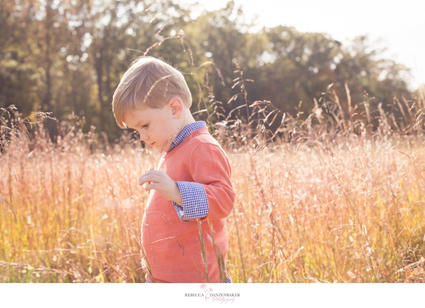 Photo of boy in field in Manassas