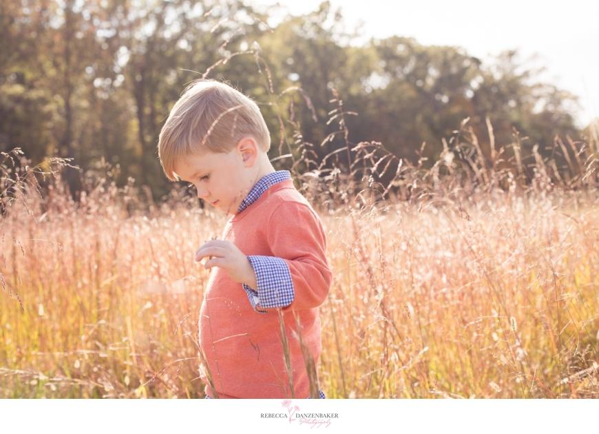 Photo of boy in field in Manassas