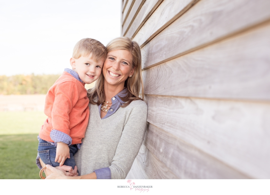 Photo of Mother and Son by house in Northern Virginia