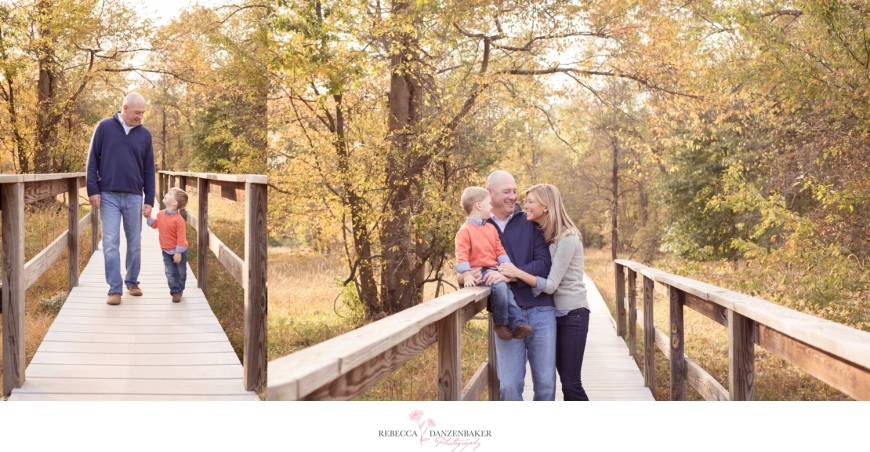 Photos of family on bridge in Northern Virginia