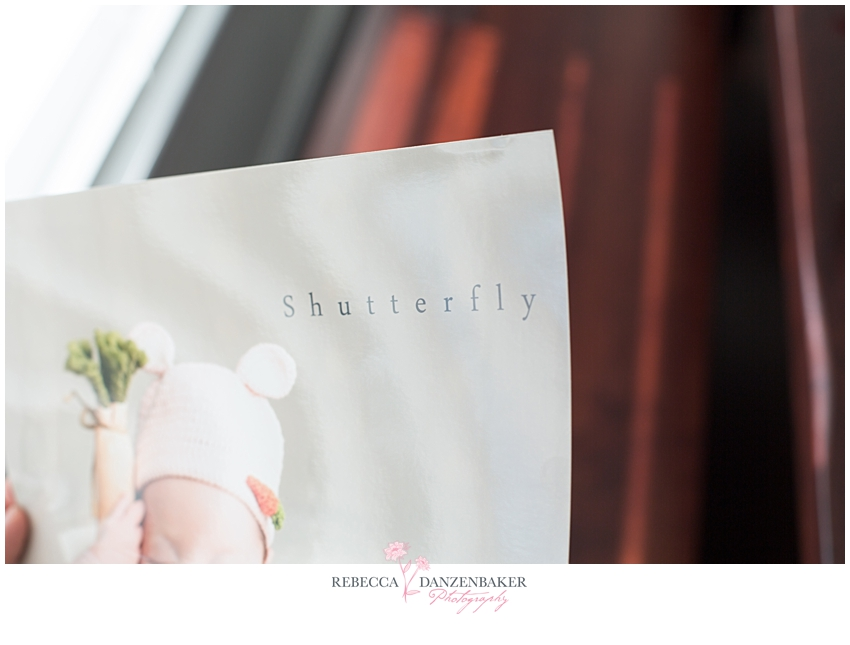 Bent corner on Shutterfly print