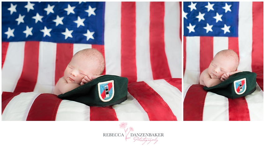 Patriotic Newborn Photography Arlington VA
