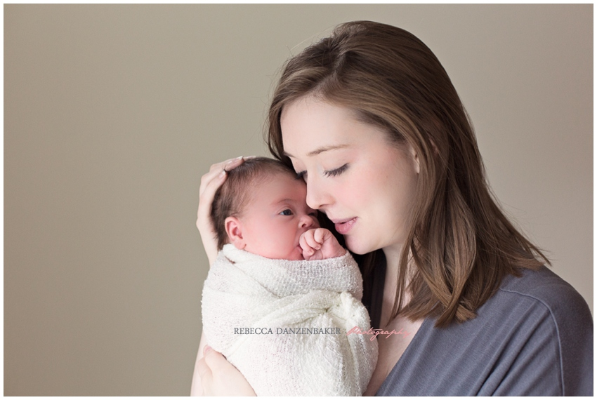 ashburn va newborn with mother portraits