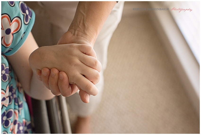 Holding mom's hand - Niemann-Pick Type C Disease