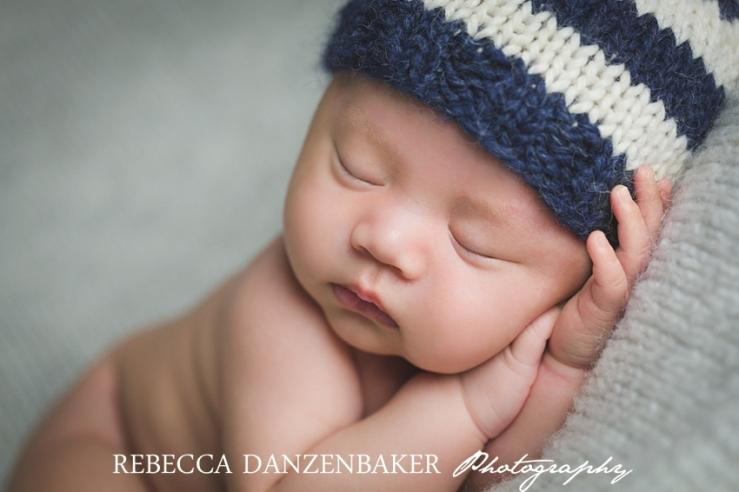 Older newborn baby photos in Loudoun VA