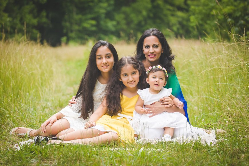 Summertime family photos in Ashburn VA