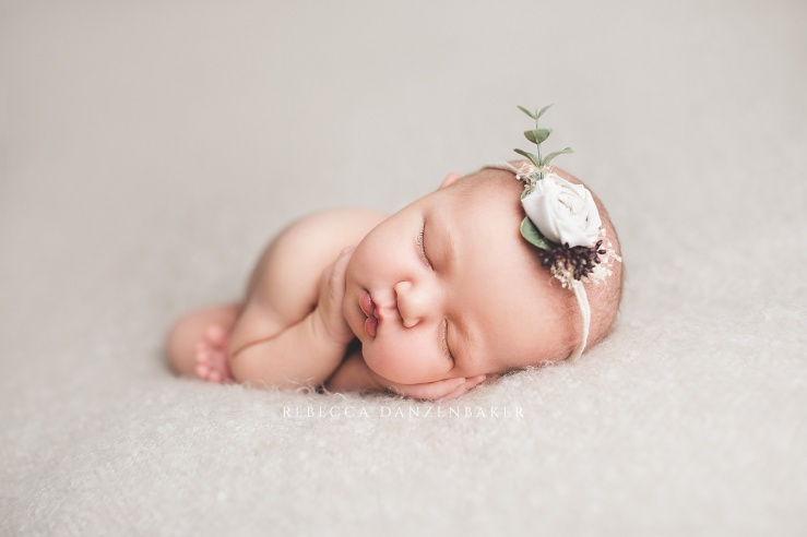 newborn girl portrait by Rebecca Danzenbaker in Northern Virginia